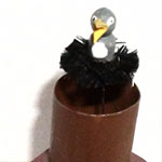 Bird in a Chimney Miniature Automata