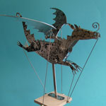 Flying Dragon (Black and Silver) by Keith Newstead