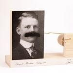 Wiggly Mustache Portrait by Gary Schott